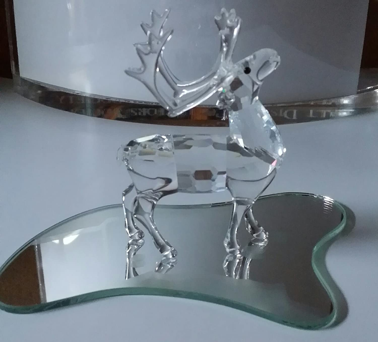 Swarovski Crystal Reindeer with Mirror