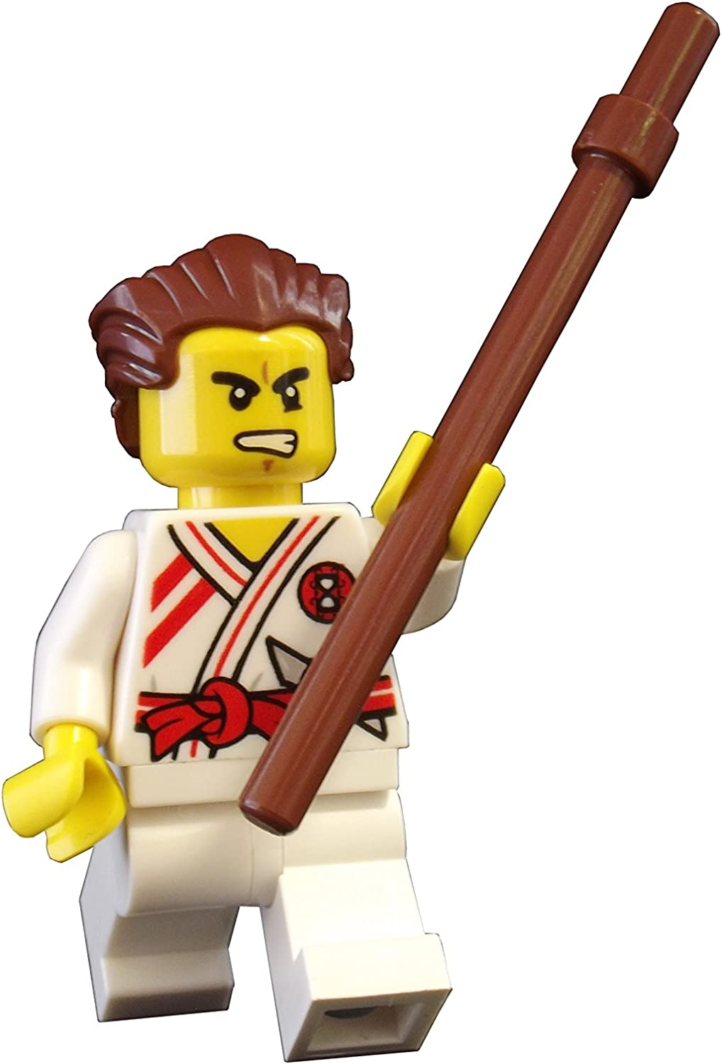 LEGO Ninjago: Griffin Turner Minifigure with Brown Staff