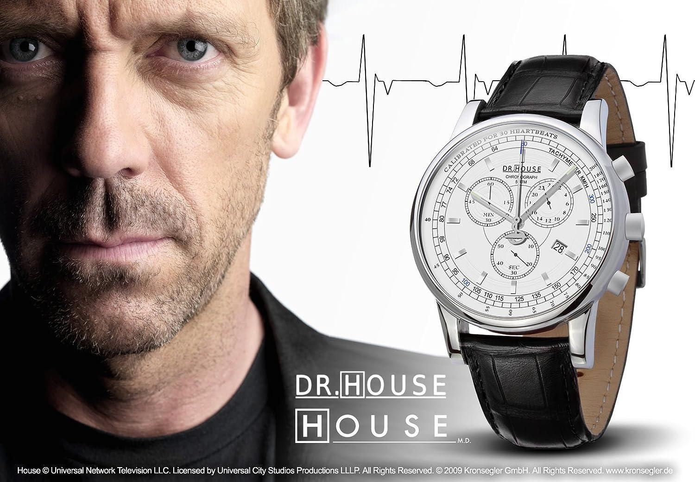 Kronsegler DR.HOUSE Herren Chronograph stahl-weiß