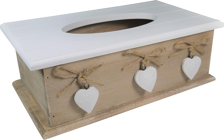 Khevga caja de pañuelos de madera en estilo rústico: Amazon.es: Hogar