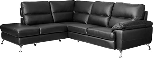 Cortesi Home Boston Leather Sectional Sofa