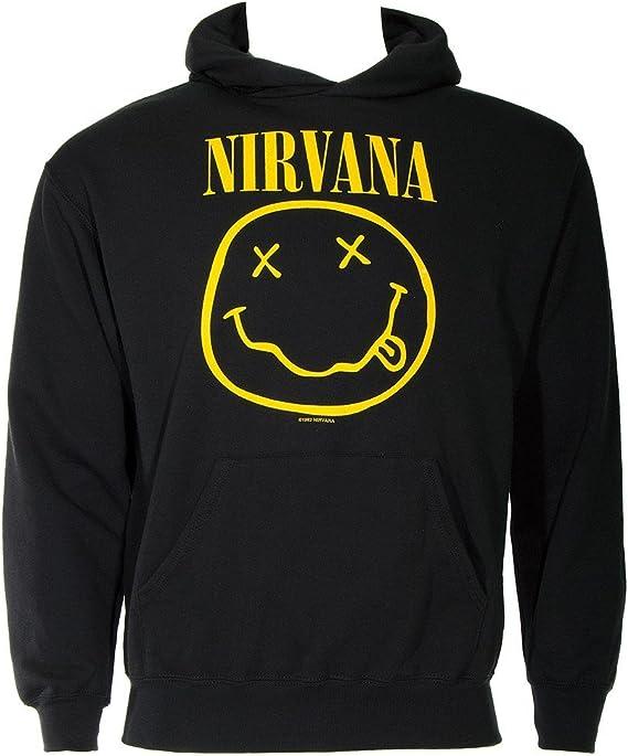 Nirvana Smiley Sweat à Capuche (Noir)