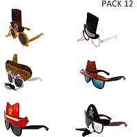 12 Pares Marcos de Gafas de Fiesta