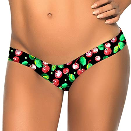 Malloom Bikini Thong, Mujeres Sexy Ropa Interior Tanga Brasileña Underpants Lingerie Lady Bikini V Thongs (S, Cereza): Amazon.es: Hogar