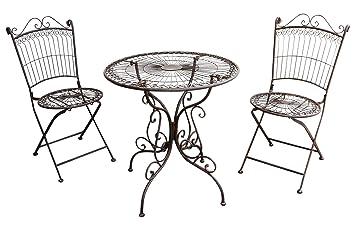 Amazon.de: Gartenmöbel Garnitur Tisch 2x Stuhl Garten
