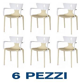 Sedie Design Outlet. Sedia Cucina Sala Pranzo Beige Moderna Design ...