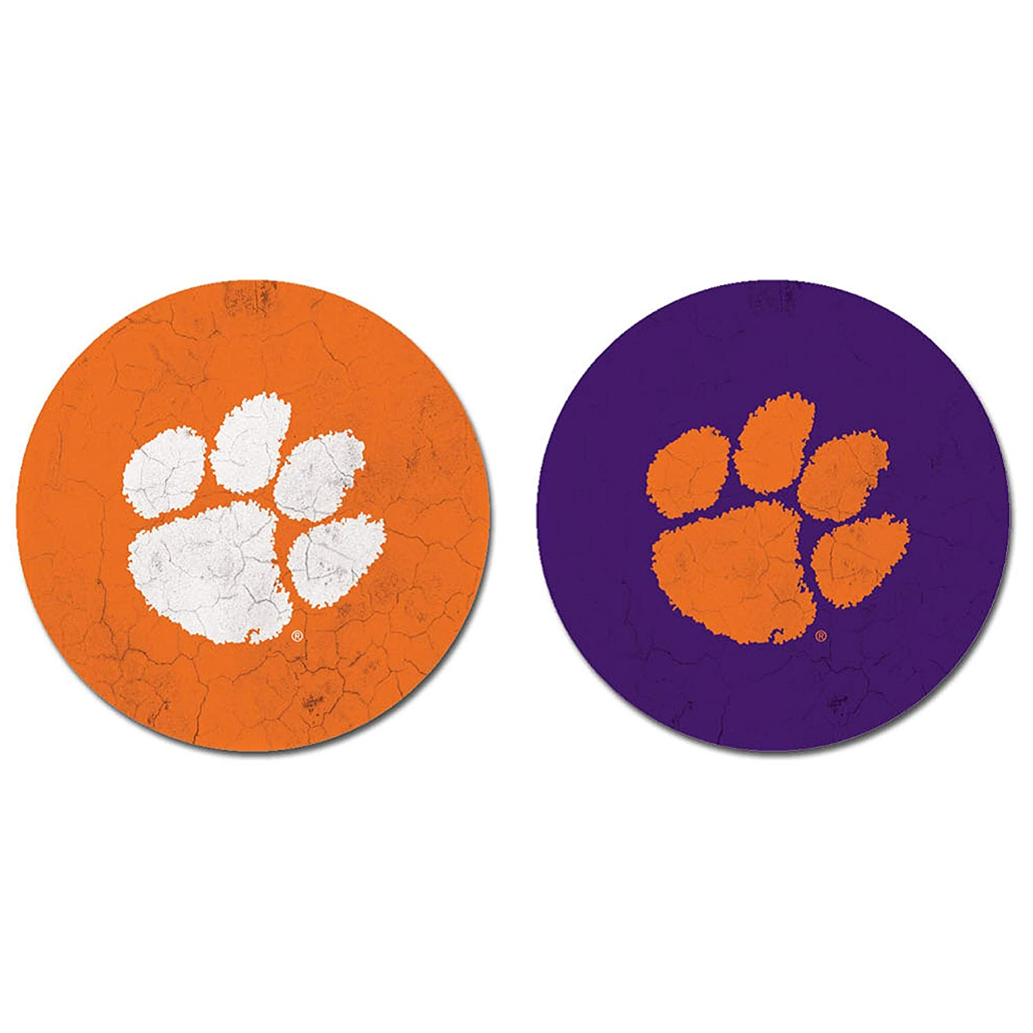 Sandstone One Size NCAA Fan Shop Clemson Tigers Legacy Thirsty Car Coaster 2-Pack