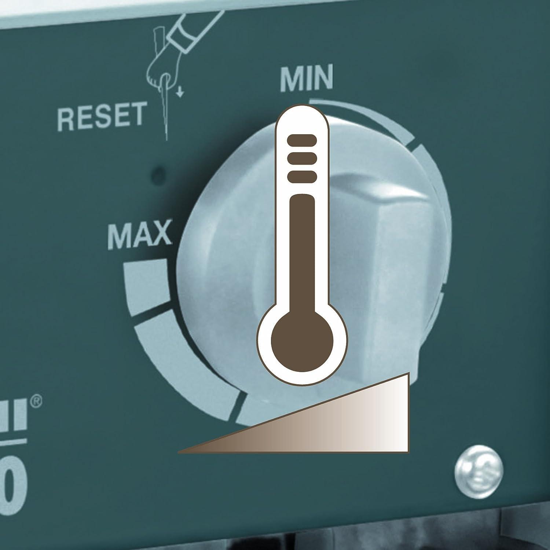 400 V, 5.000 W max., spez. Heizelemente, 2 Heizstufen, Axiall/üfter, stufenloser Thermostatregler, Spritzwasserschutz Einhell Elektro-Heizer EH 5000