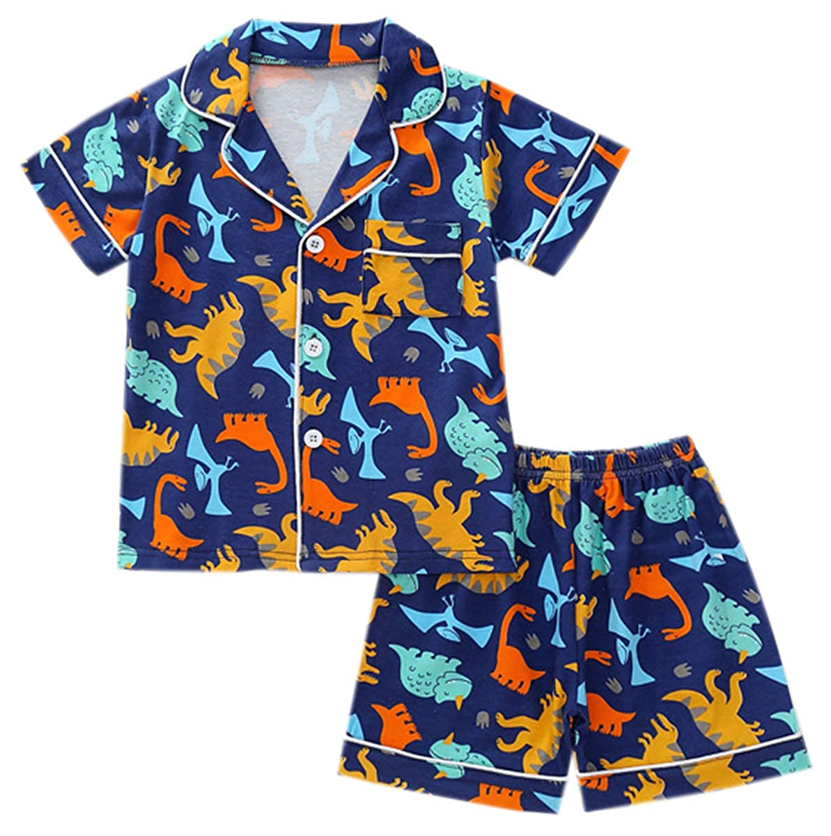 12 Months Ameyda Kids Boys Girls Short Pajamas Set 10 Years