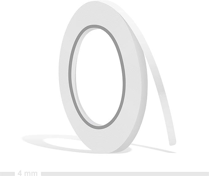 Siviwonder Zierstreifen Weiß Glanz In 4 Mm Breite Und 10 M Länge Für Auto Boot Jetski Modellbau Klebeband Dekorstreifen Auto