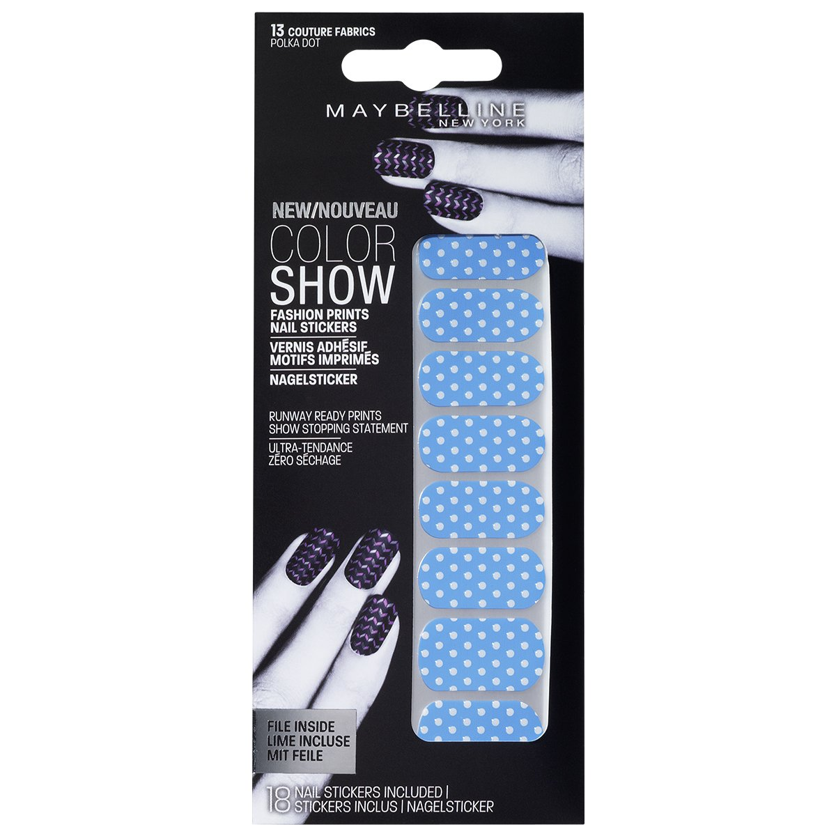 Paquete de pegatinas para uñas de Maybelline: Amazon.es: Belleza