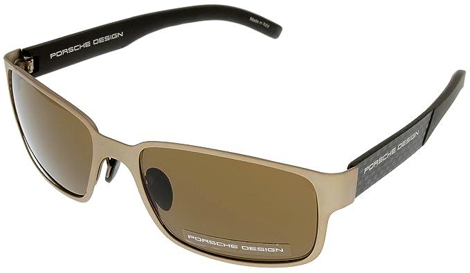 66e651a19d Amazon.com  Porsche Design Sunglasses Grey-Blue Unisex P8551 A ...