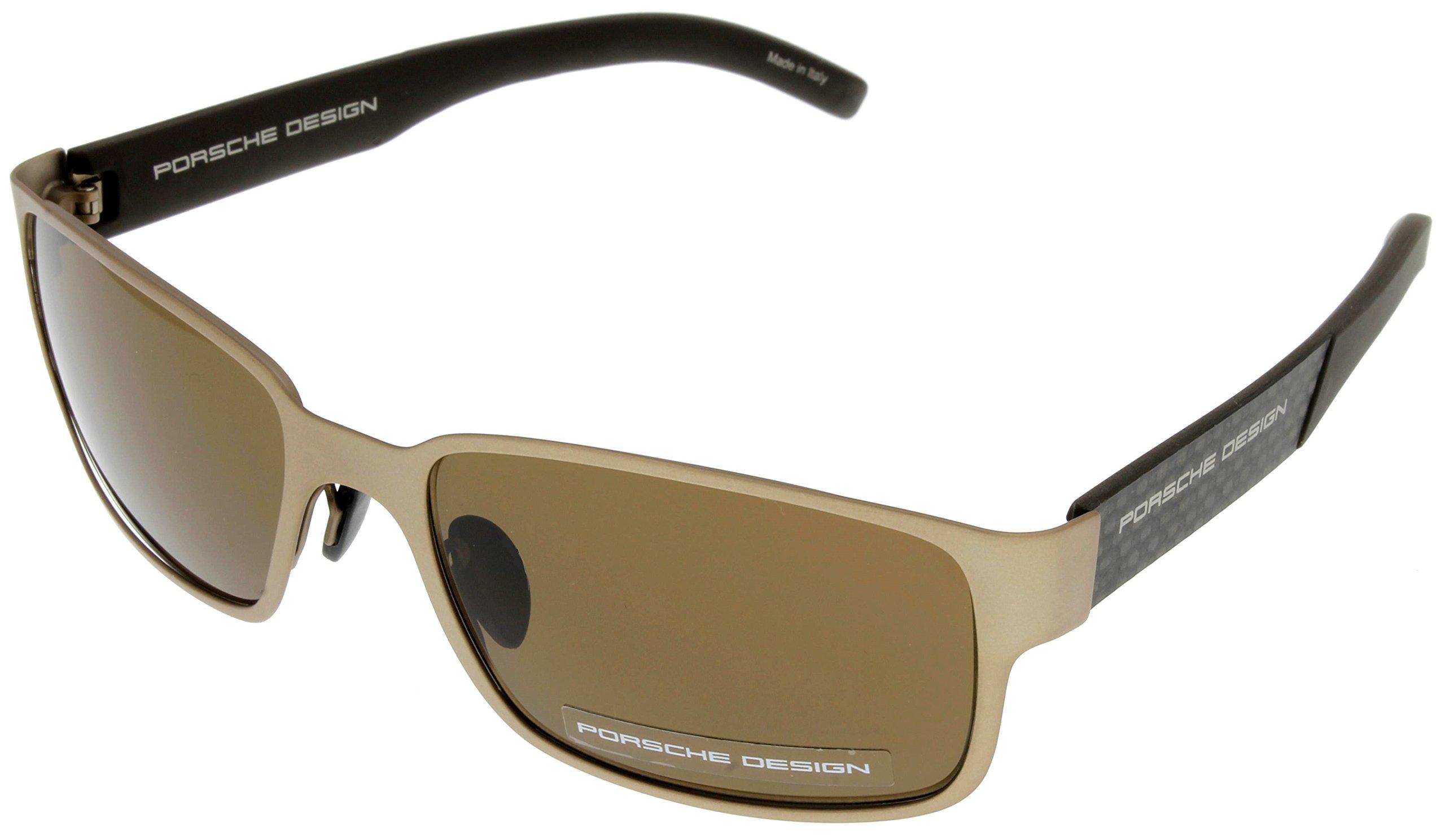 Porsche Design Sunglasses Bronze/Brown Unisex P8551 B Rectangular