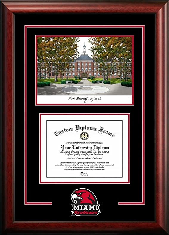 Amazon Miami Of Ohio Redhawks Alumni Mahogany Diploma Frame