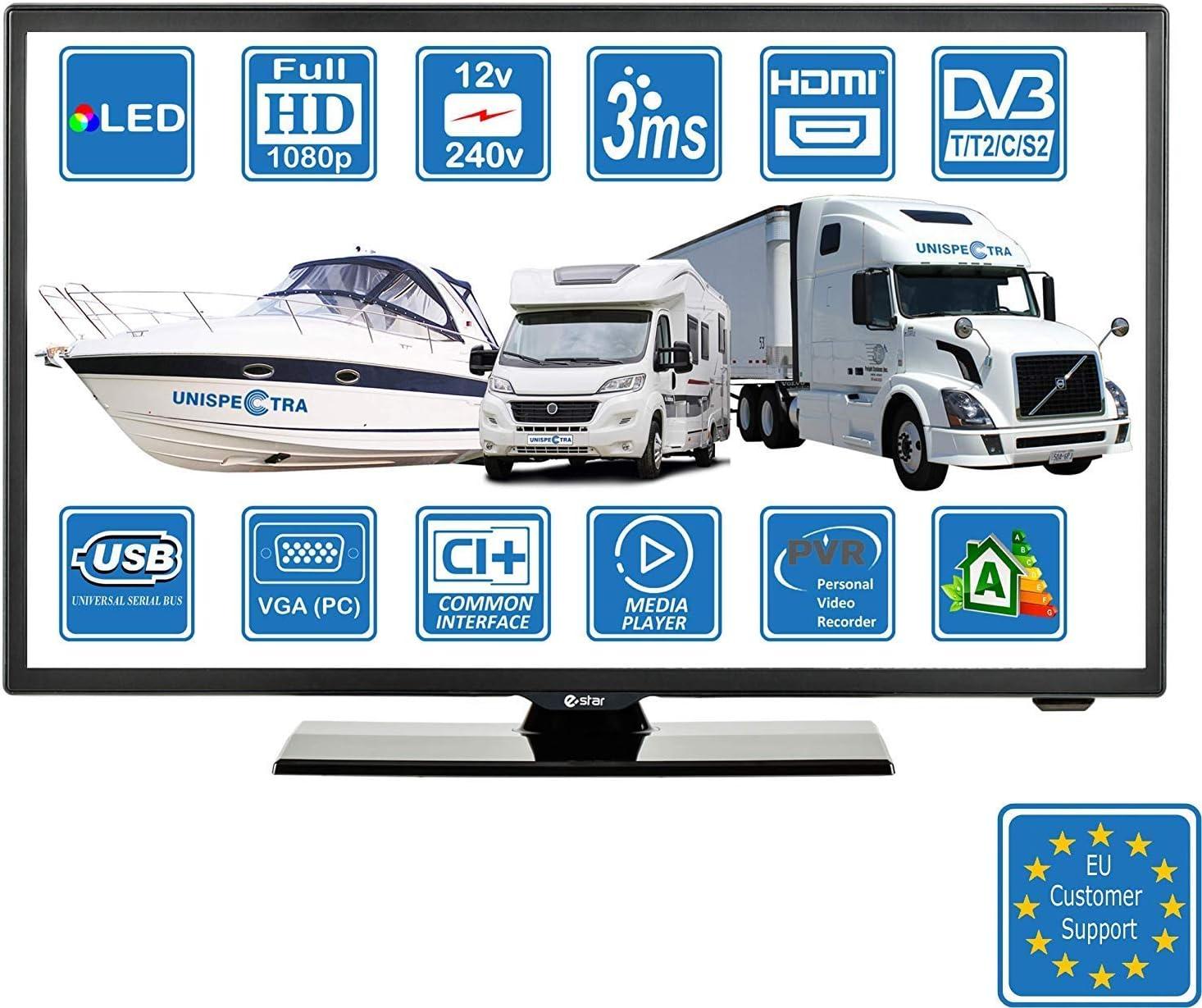 Wohnmobile Wohnwagen Camping Boot 8 Volt 8 Zoll 8 cm LED Digitales Full  HD Fernseher DVB-T8/C/S8 TV, Kabel, Satellit TV. 8V 830V USB PVR &