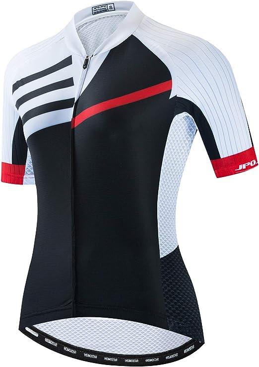 R/éfl/échissant Respirant weimostar Maillot de cyclisme /à manches courtes pour femme