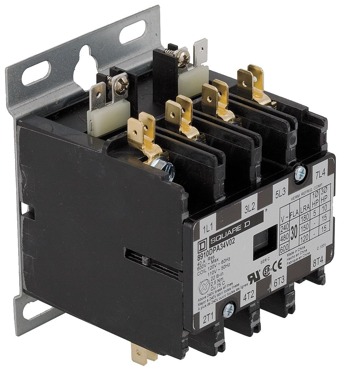 Square D 8910DPA34 Contactor 40 Amp Lightly for sale online