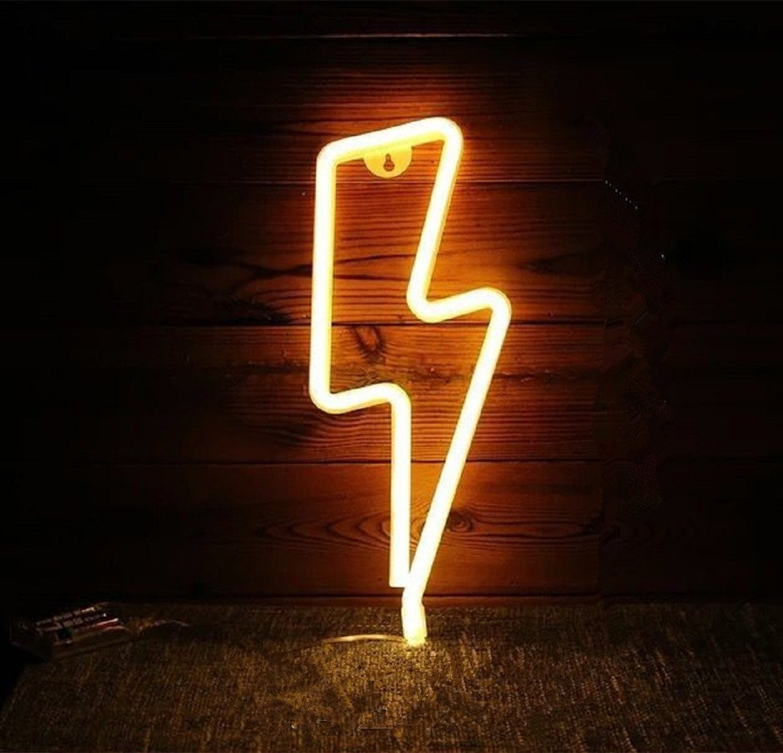 Neon Signs Led Decor Light Wall Decor For Christmas Decoration Birthday Party Home Led Decorative Lights Wedding Event Banquet Party Decor(Soft White) (Soft White, Lightening) by Kool Tech