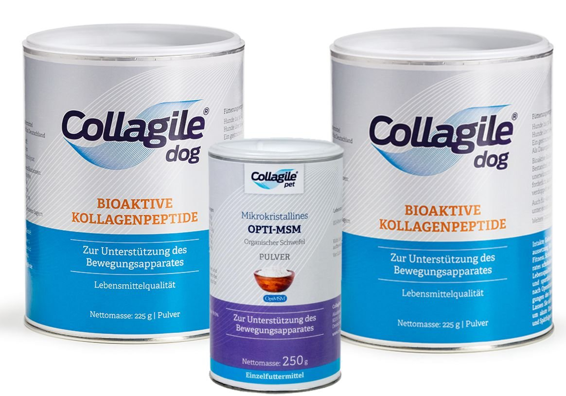 2 x Collection Agile Dog 225g + 1x Collection Agile® Pet Opti MSM 250g