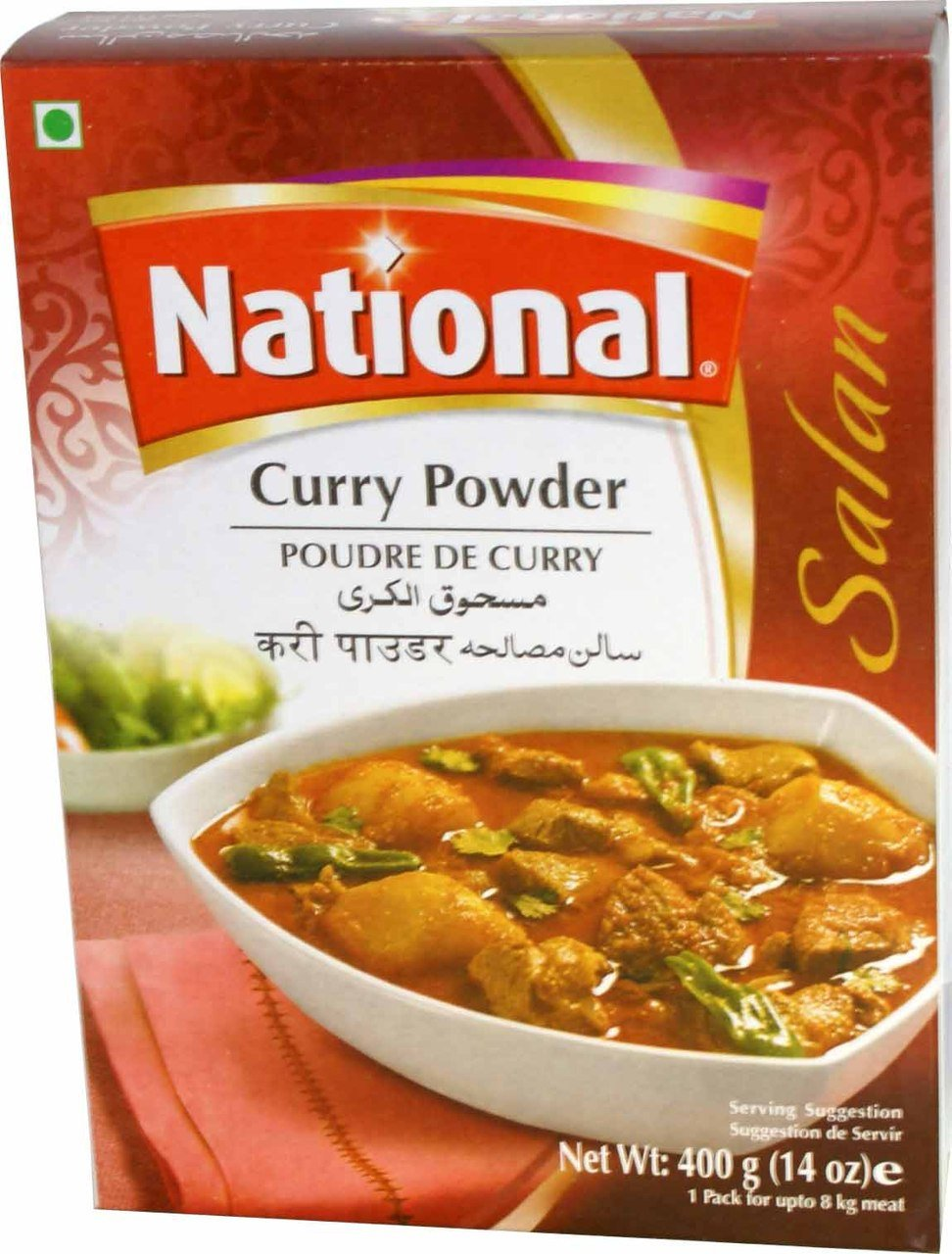 National Curry Powder - 400 Gms - 2 Pack