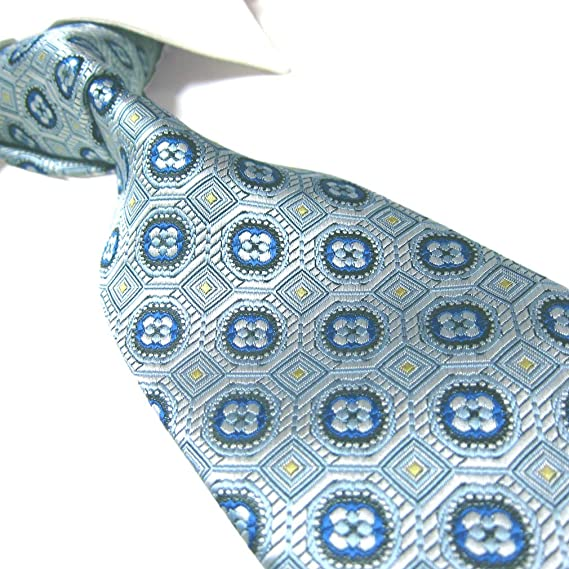Extra Long Turquoise Floral Men/'s Tie