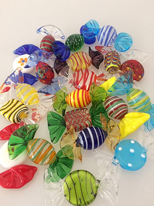 Miraculous Brccee Ac 20Pcs Vintage Murano Glass Sweets Wedding Xmas Party Candy Decorations Gift Interior Design Ideas Apansoteloinfo