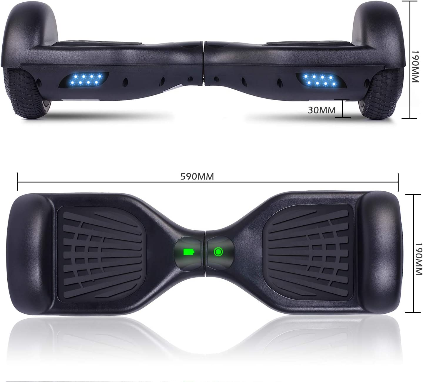 Amazon.com: Felimoda Tabla de dos ruedas autoequilibrada con ...