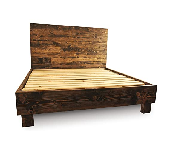 farmhouse bed frame and headboard set reclaimed style rustic and old world