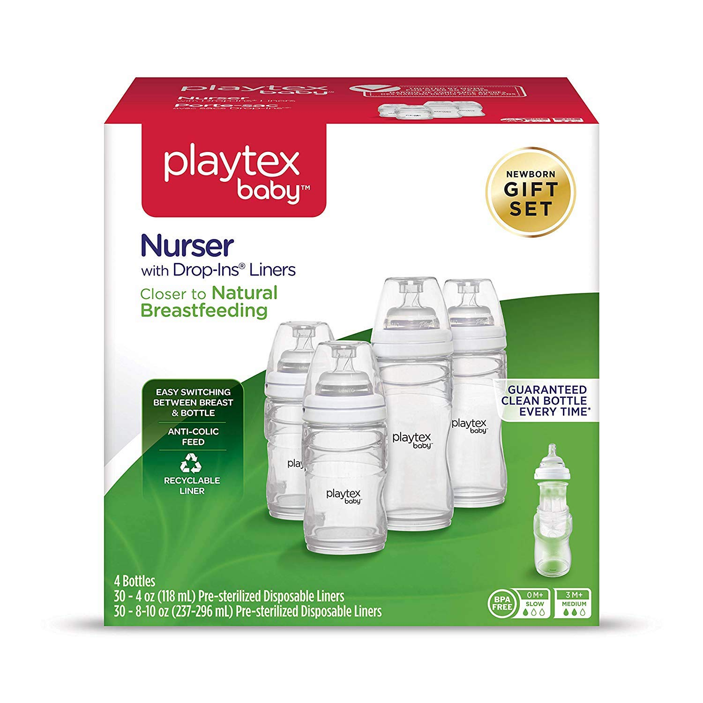 豪華 Playtex Set) Baby (Gift Nurser ベビーボトル 差し込み式使い捨てライナー付き 4 Boxes 4 (Gift Set) B07K3B1V6Y, いばらきけん:3921cfe2 --- a0267596.xsph.ru