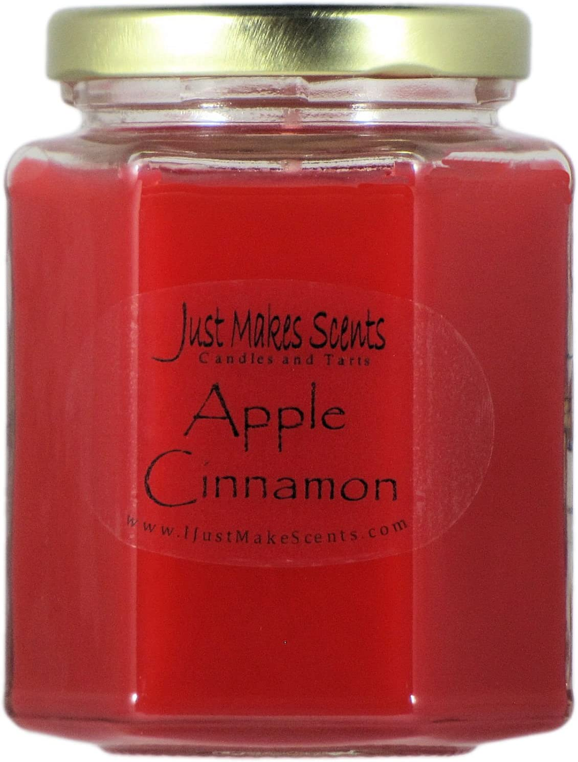 Just Makes Scents Apple Cinnamon Scented Candles | Amazing Fall Fragrance | Hand Poured in The USA (8 oz)