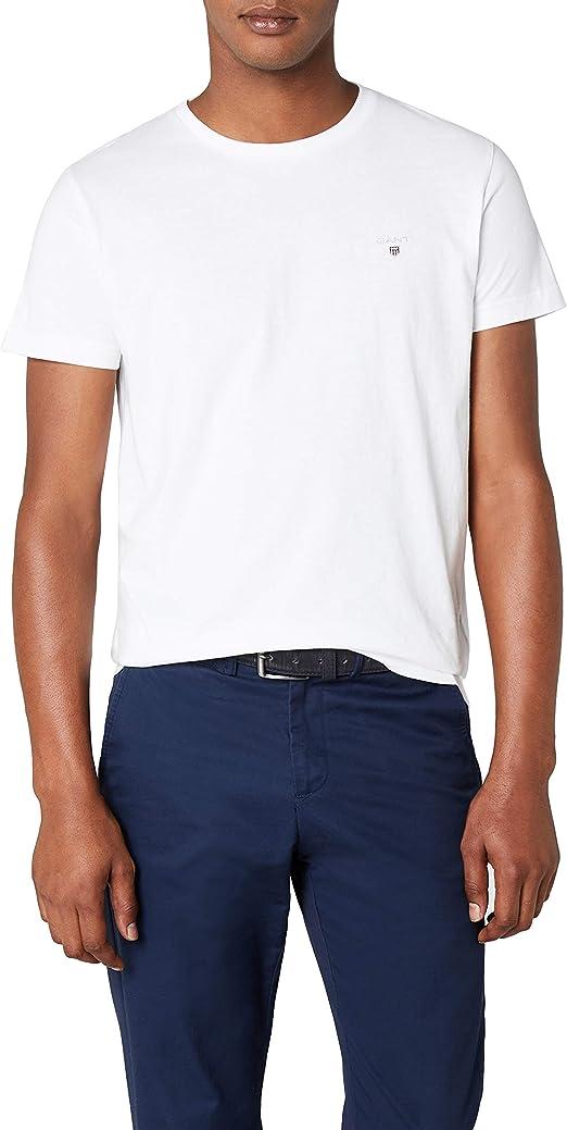 GANT 234100 Mens T-Shirt Crew Neck Short Sleeve Regular Fit Navy Blue Cotton Tee