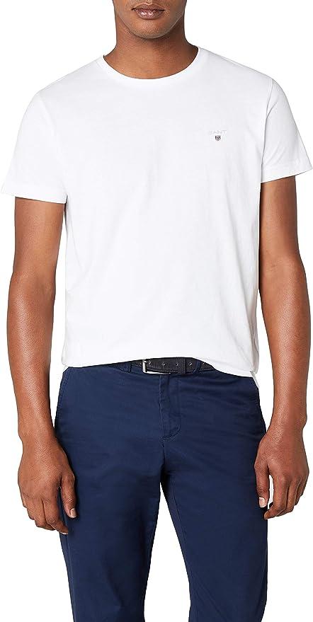 TALLA L. GANT Solid T-Shirt Camiseta para Hombre