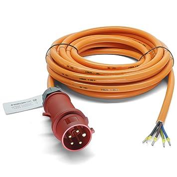 CEE 16A Geräteanschlusskabel Verlängerung H07BQ-F 3x2,5 mm² 3m mit CEE Kupplung
