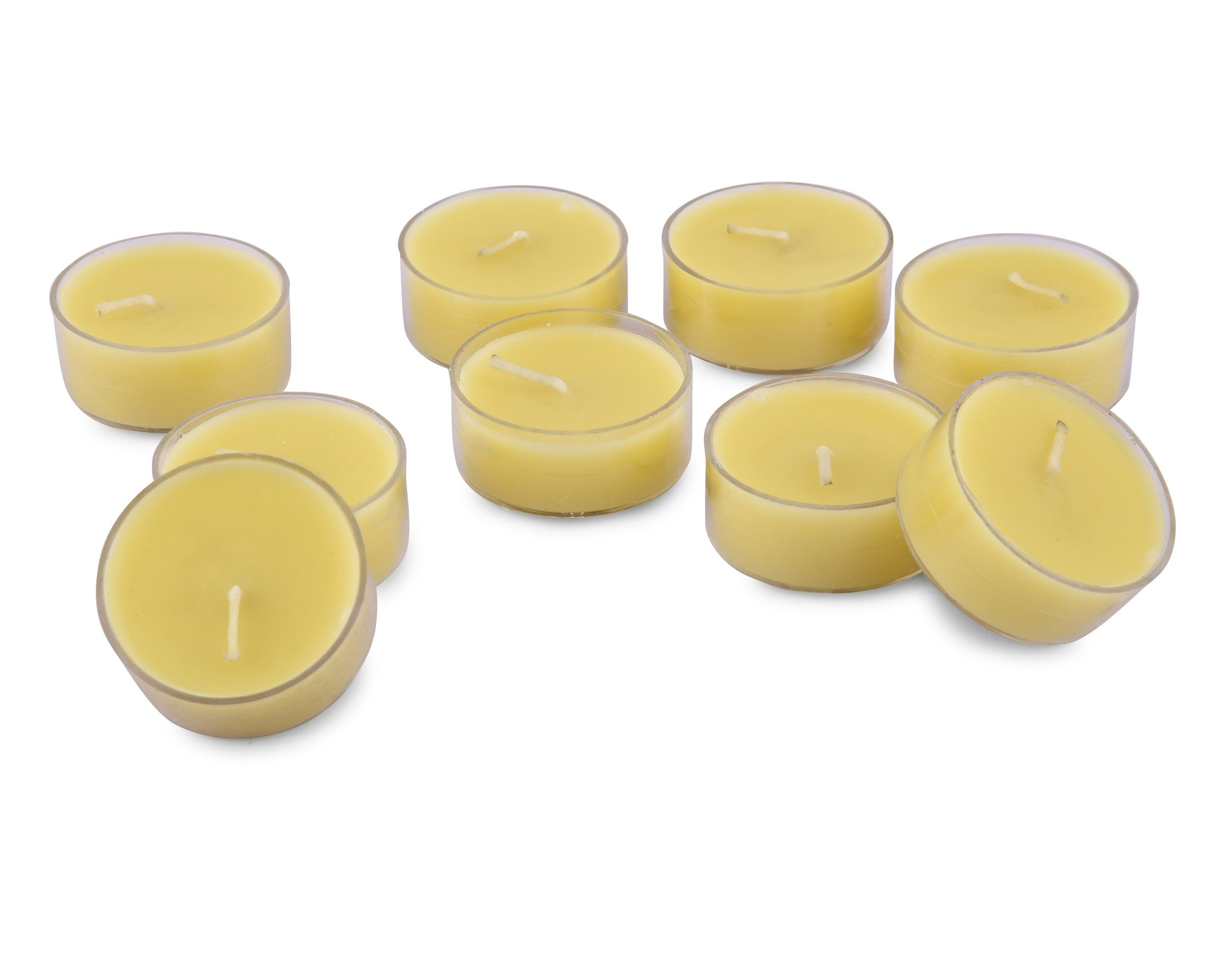 Rosemoore Yellow Lemongrass Scented Tea Lights For Living Room, Washroom, Bedroom, Office by Rose and Moore (Image #2)