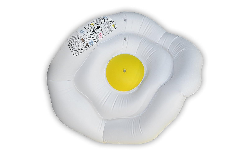 Toi 7005 - Flotador hinchable 1,35 x 1,15 m para piscina y playa, diseño Huevo frito: Amazon.es: Juguetes y juegos