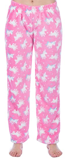 Ladies Soft Fleece Unicorn Llama Lounge Pants at Amazon Women s Clothing  store  1639b707f