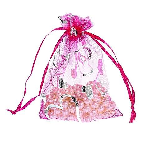 K-Y 100 bolsas de regalo de organza con diseño de mariposas ...
