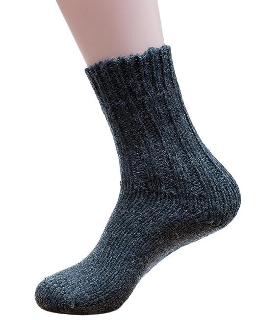 Hirsch Natur - 100% de lana pura de punto grueso de tobilleras con peso calcetines de - 5 disponible: Amazon.es: Ropa y accesorios