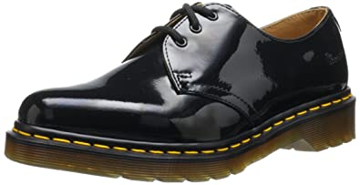 Dr Martens 1461 Noir Patent Lamper Black Womens Shoes Size 6 5 UK