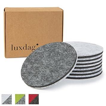 untersetzer fur glaser filzuntersetzer rund 8er set farbkombination wahlbar hell grau glasuntersetzer beidseitig nutzbar basteln