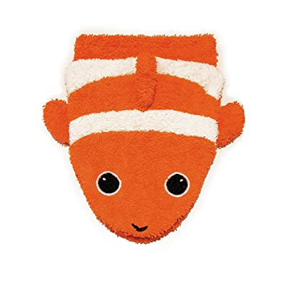 Organic Cotton, Washcloth Mitt Clownfish Puppet, Large by Furnis: Toys & Games