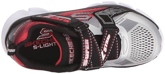 360402653e7ba Amazon.com   Skechers Kids Boys Hypno Flash Z Strap Light Up Sneaker    Sneakers