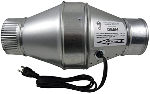 tjernlund dbm4 duct booster fan for 4 flex or metal duct 100 cfm