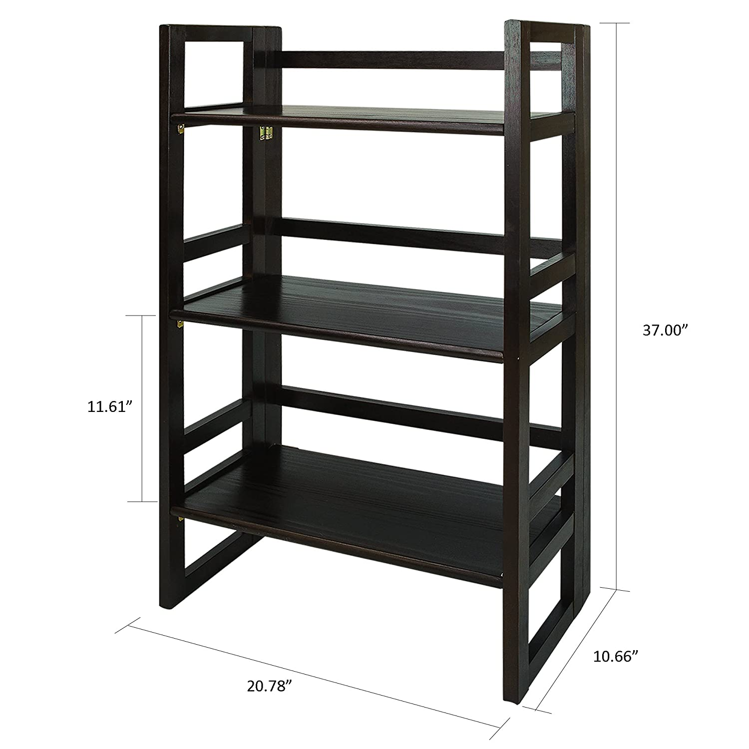 casual home 3 tier folding student bookcase 20 75