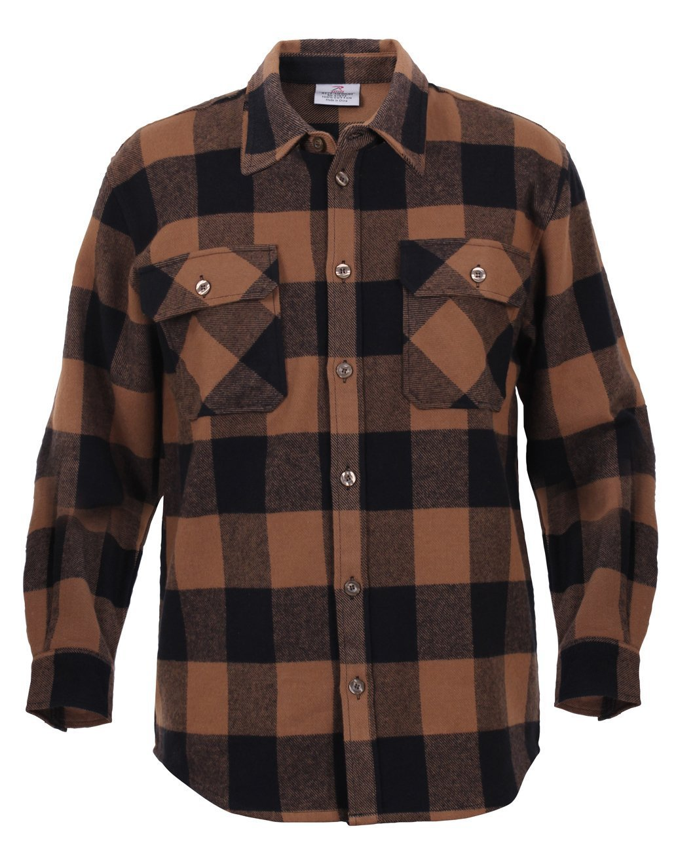 bddc077b Amazon.com: Rothco Extra Heavyweight Buffalo Plaid Flannel Shirts: Sports &  Outdoors