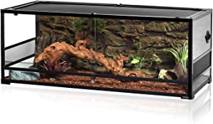REPTI ZOO 67Gallon Upgrade Glass Reptile Large Terrarium 48