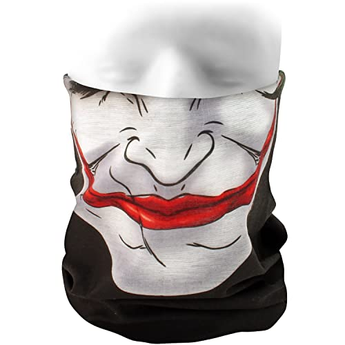 CampTeck Echarpe Tube Tour de Cou Multi-Usage Bandana Masque Visage Camouflage Crâne Clown Joker pour Cyclisme, Velo, Moto, Ski, Randonnée, Equitation et Autres Activités de Plein Air