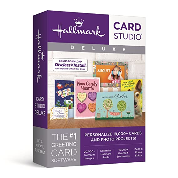Amazon hallmark card studio deluxe 2018 software hallmark card studio deluxe 2018 m4hsunfo