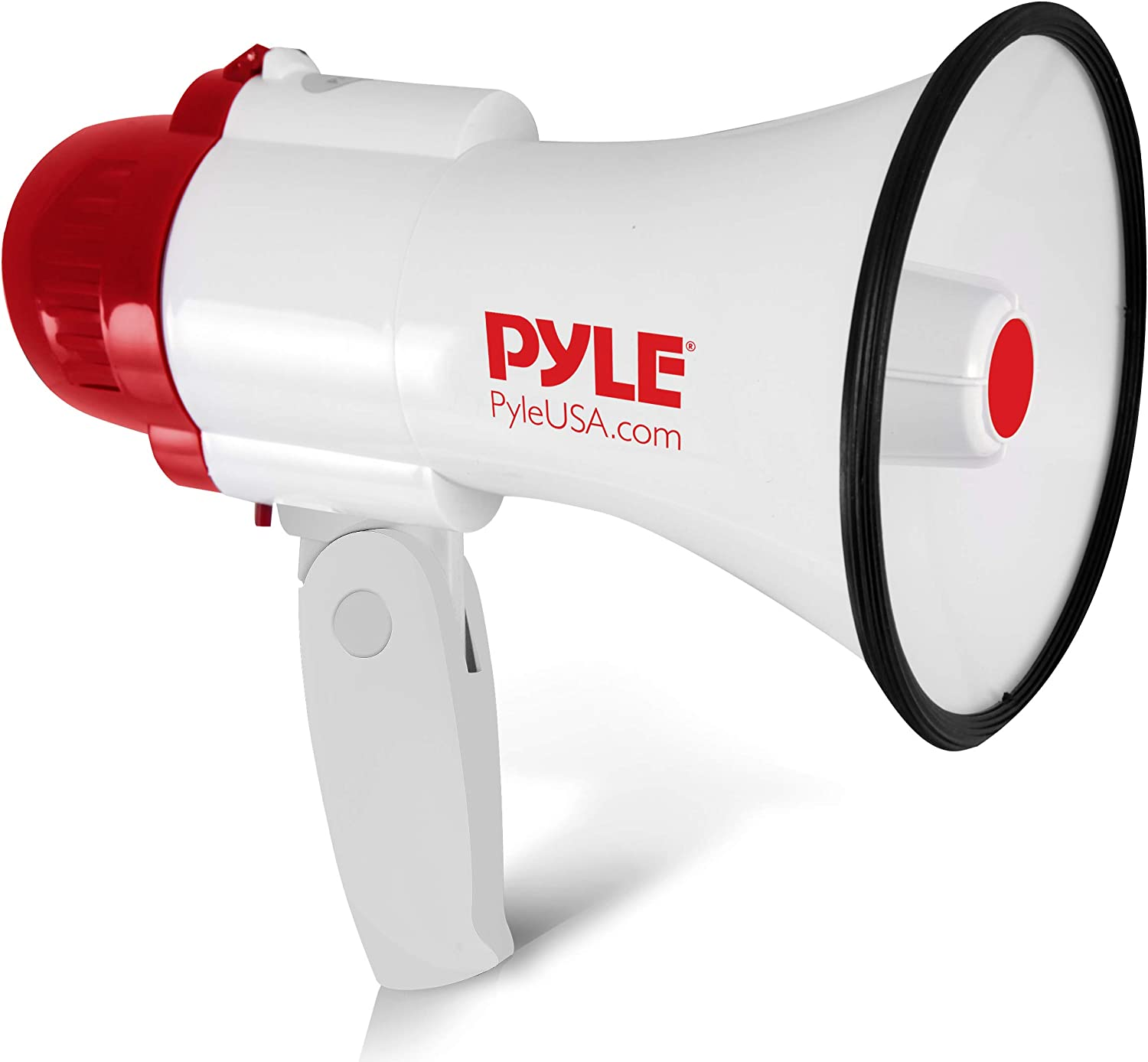 Pyle Megaphone Speaker Lightweight Bullhorn - Built-in Siren, Adjustable Volume Control and 800 Yard Range - PMP30