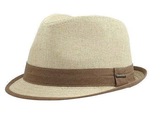 bdd7a068 Stetson Men's Contrast Trim Tea Fedora Hat Sz: M at Amazon Men's ...